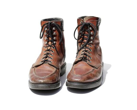 brun travail pour taille Bottes homme de Vintage rouille 11 cuir kZXiuOwPTl