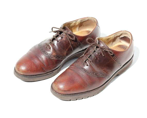 2502ebdaa0346 Vintage Men's Brown Leather Oxford Shoes / size 8