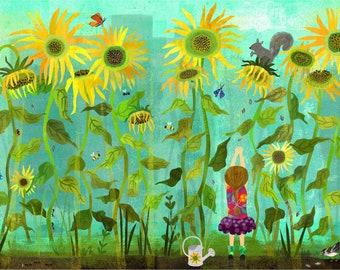 Sunflower Buffet Giclee Print 11 x 14
