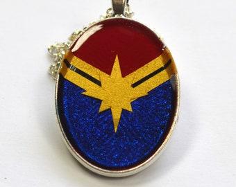 Captain Marvel Carol Danvers Carol Corps Star Logo Pendant