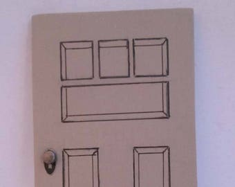 Small Handmade Dollhouse Replacement Door For Smaller 3/4 Scale Dollhouses Rich Dollhouse