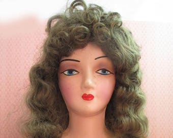 Vintage New Old Stock Global Doll Wig Cerise Doll Wig - 15-16 Doll Wig Discontinued Doll Wig - Doll Restoration