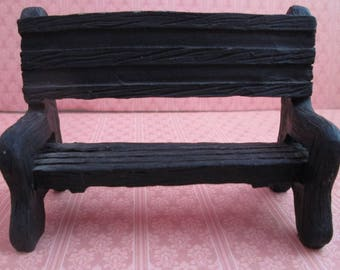 Vintage Miniature Benches from Mervyn's Village Square Collection Miniature Supply - Miniature Display - Collectable Miniatures