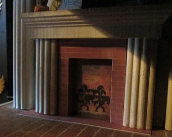 Keystone Dollhouse Fireplace and Hearth Replacement - Digitally Remastered Replacement - Keystone Dollhouse Restoration Piece Pre Assembled