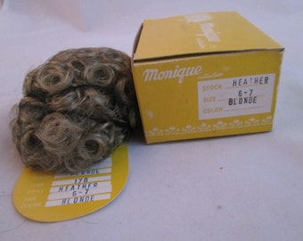 BLOND Heather Doll Wig Size 6/7  From Monique Trading Corp. New In Box Will Fit BJD