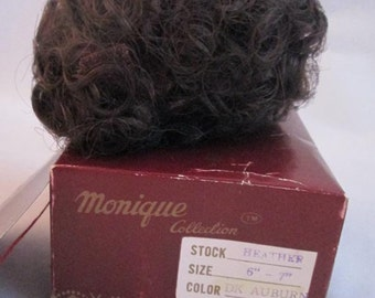 DARK AUBURN Heather Doll Wig Size 6/7  From Monique Trading Corp. New In Box  Will Fit BJD