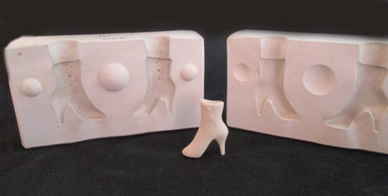 Vintage Vicki Hamilton Porcelain High Heel Boot Molds  Hard image 0