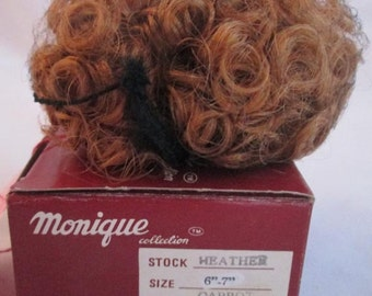 CARROT Heather Doll Wig Size 6/7  From Monique Trading Corp. New In Box  Will Fit BJD