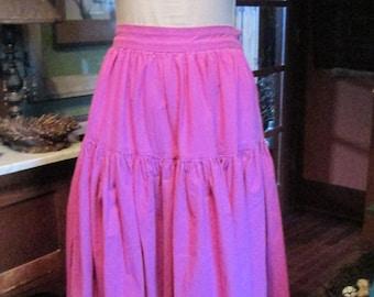 Vintage Renaissance Pleasure Faire Rose Pink Underskirt - Full Renaissance Skirt - Size Small Underskirt - Renaissance Costume Womens Dress