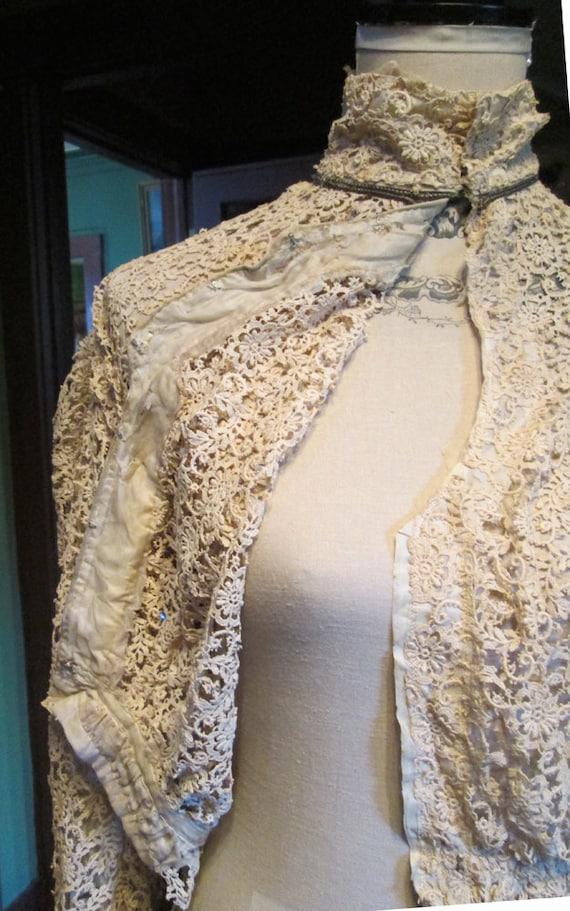 Antique Authentic Edwardian Victorian Lace Blouse… - image 6