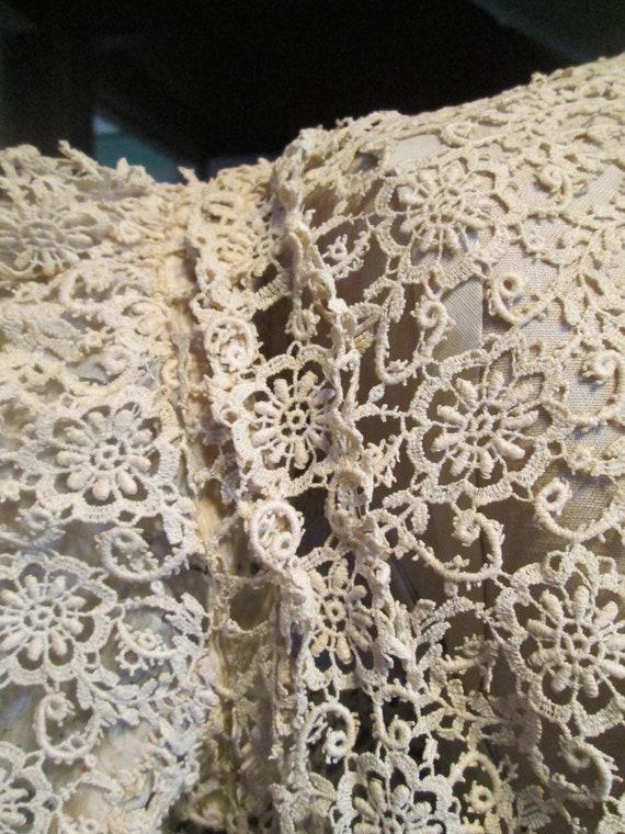 Antique Authentic Edwardian Victorian Lace Blouse… - image 4