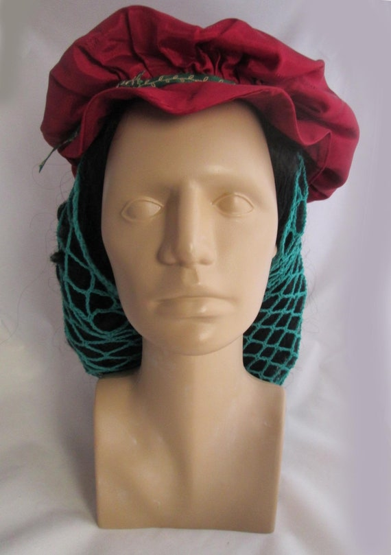 Renaissance Hat and Snood Costume - Theatre Costum