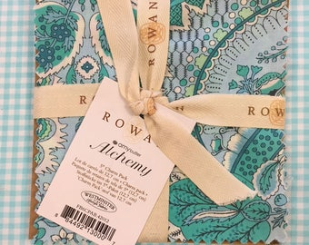 """Rare CHARM 48 piece SET Amy Butler ALCHEMY Cotton Quilt Fabric - 4 each 12 Precut 5"""" Squares - Hard to Find - Out of Print"""
