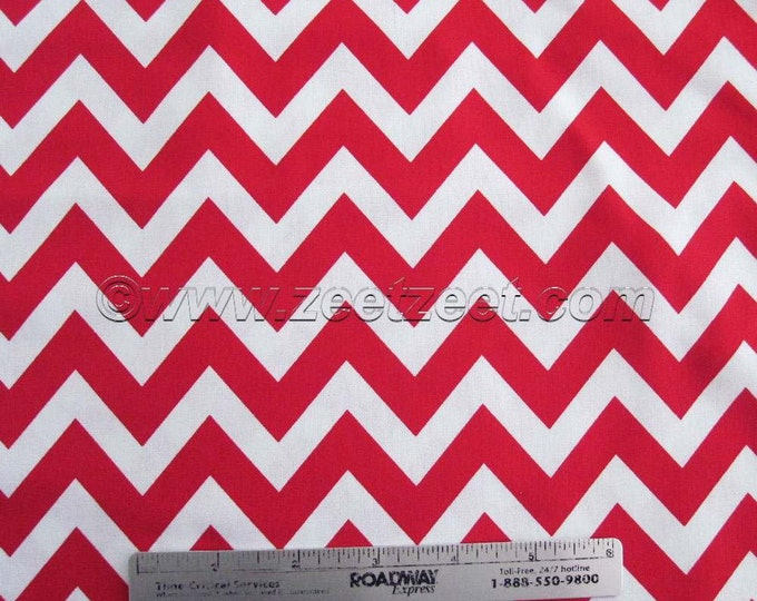 SALE Robert Kaufman REMIX ZIG Zag Ann Kelle Red Chevron - Cotton Quilt Fabric - by the Fat Quarter, Half Yard, or Yard