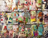 FABRIC SWATCHES by the Pound - Printed Cotton Quilt Scrap Bag Pack Bundle - zeetzeet - FREE Shipping Available - Grab Bag Assorted Quilting