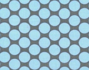 Amy Butler LOTUS FULL MOON Slate Sky Blue Gray Grey Polka Dot Quilt Fabric - Sold by the Yard