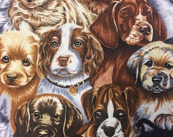 Cranston VIP ~ Robert May ~ DOGS /& PUPPIES ~ 100/% Cotton Quilt Fabric BTY