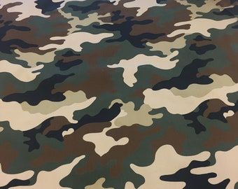 """NEW CAMO WITH PEACE SIGN /""""  NEW GREEN CAMO DESIGN 100/% COTTON 1 YARD"""