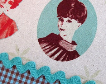 Melody Miller PORTRAITS Cotton Linen Japanese Fabric - Home Dec Weight