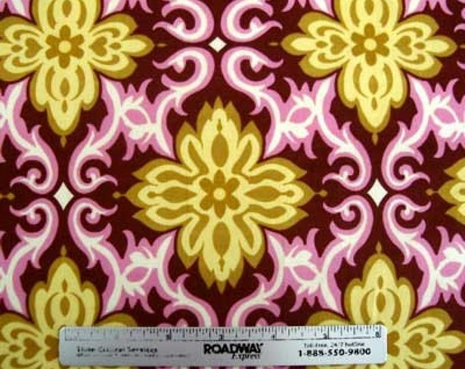 Amy Butler LOTUS TEMPLE GARLAND Pink Quilt Quilt Fabric - Sold by the 1/2 Yard increment