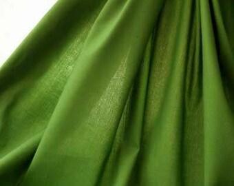 MOSS GREEN Solid Cotton Fabric, 100% Cotton Fabric Quilting Fabric Sewing Craft Clothing, Irish Leprechaun Green Fabric