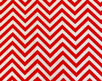 MINI CHEVRON Red White Quilt Quilting Fabric 100% Cotton by the Precut Fat Quarter Out Of Print VALENTINE Rare Robert Kaufman