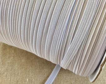 """10 yards Flat 6mm 1/4"""" inch White or Black Soft ELASTIC Spandex Band Sewing trim/hand MASK ear supplies. US seller fast Free Shipping"""