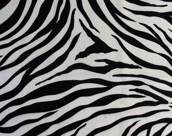 "ZEBRA BARKCLOTH - 54"" wide - Cotton Home Dec Drapery Weight Fabric - by the Yard RARE and Out of Print"