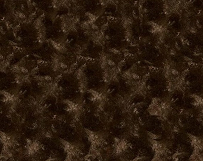 Rosette MINKY Fabric BROWN Luxe Cuddle Shannon Fabrics by the Yard Faux Fur Swirl Plush Texture Super Soft Fabric