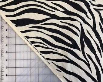 ZEBRA Print FABRIC, Premium Cotton Fabric by the Yard, or select length, BARKCLOTH Safari Fabric Wild Animal, Home Decor Fabric