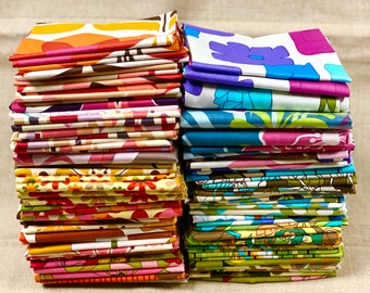 """Mod FLORAL GEOMETRIC Fat Quarters 100% Cotton Quilt Fabric Robert Kaufman 18 x 22"""" Fq You Choose Great for Mask Making RARE & Out of Print B"""