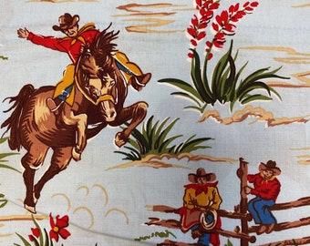 COWBOY Fabric Sky Blue - BARN DANDY Fabric - Robert Kaufman