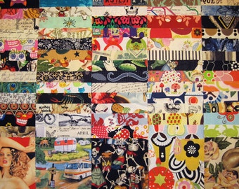 100 Assorted 5-Inch FABRIC SQUARES Charm 100% Cotton Quilt Fabric Set - Assorted Prints & Colors - Novelty and Conversational Designs I Spy