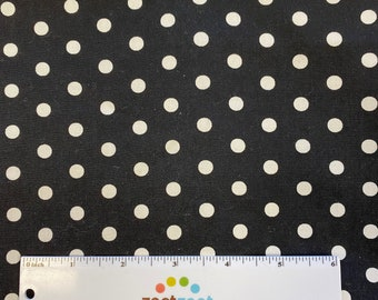 """POLKA DOTS Black and White by Michael Miller - Premium Quilting Cotton Fabric - """"Ooh La Dot"""""""