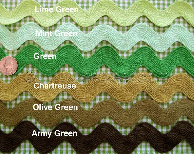 Choose Your Colors - 3 Yds Giant RIC RAC Jumbo Sewing Trim 1.5-Inches Wide - Rick Rack