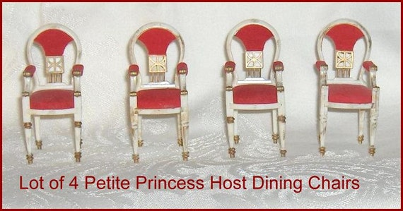 VINTAGE DOLLHOUSE FURNITURE IDEAL PETITE PRINCESS HOSTESS DINING CHAIRS