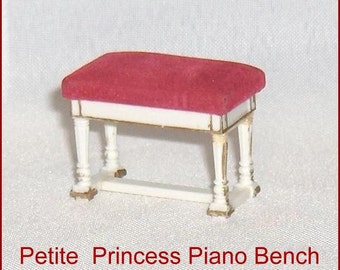 Petite Princess Piano Bench  Vintage Ideal   Doll House Furniture