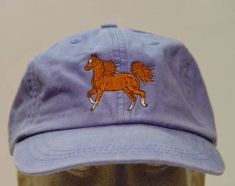 5c5a7d582fd0f ARABIAN HORSE RUNNING Hat - One Embroidered Men Women Baseball Cap - Price  Embroidery Apparel - 24 Color Mom Dad Gift Caps Racing Riding Pet