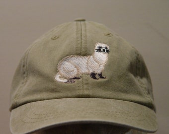 Black Footed Ferret Hat - Embroidered Men Women Wildlife Gift Cap - Price  Embroidery Apparel - 24 Color Mom Dad Caps North America Polecat 6481df6d65c7