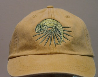 CHAMELEON LIZARD REPTILE Hat - Embroidered Men Women Wildlife Cap - Price  Embroidery Apparel - 24 Color Mom Dad Cotton Baseball Caps Gift 3d9060121bf6