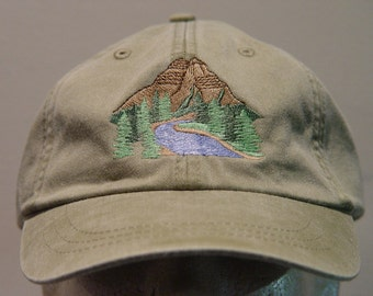 e886236032bcd8 MOUNTAIN NATIONAL PARK Hat One Embroidered Wildlife Women Men Cap - Price  Embroidery Apparel - 24 Color Mom Dad Outdoor Gift Caps Available
