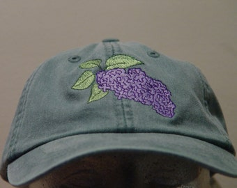 a4c55d7c8dd7f LILAC FLOWER Hat Embroidered New Hampshire State Flower Cotton Cap - 24  Colors Men Women Mom Dad Gift Shrub Caps - Price Apparel Embroidery