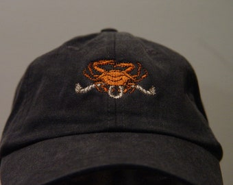 d3f758853f3 KING CRAB Hat - One Embroidered Men Women Wildlife Baseball Cap - Price  Embroidery Apparel 24 Color Alaskan Bering Sea Fishing Mom Dad Gift