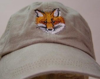 c7a13a6101346 RED FOX HAT - One Embroidered Men Women Wildlife Baseball Cap - Price  Embroidery Apparel - 24 Color Adult Mom Dad Gift Caps North America