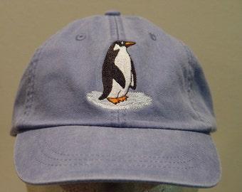 e4c02295d2c595 PENGUIN HAT - One Embroidered Aquatic Bird Men Women Wildlife Cap - Price  Embroidery Apparel - 24 Color Mom Dad Gift Caps Flightless