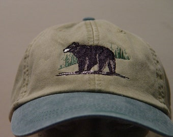 Custom Camo Mesh Trucker Hat Cute Polar Bear Embroidery Cotton One Size