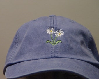 WHITE ASTER September Flower of Month Hat - Embroidered Women Men Cap - 24  Colors Mom Dad Gift Garden Baseball - Price Apparel Embroidery 7414ac1a31fe
