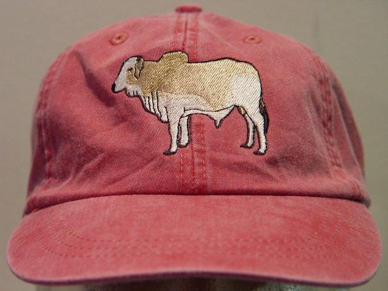46373497553a7 BRAHMAN BULL Brahma Cattle Hat Embroidered Men Women Baseball