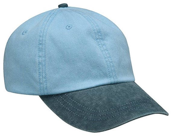 BABY BLUE NAVY Hat Adams Two Tone Women or Men Baseball Cap  232704e3317