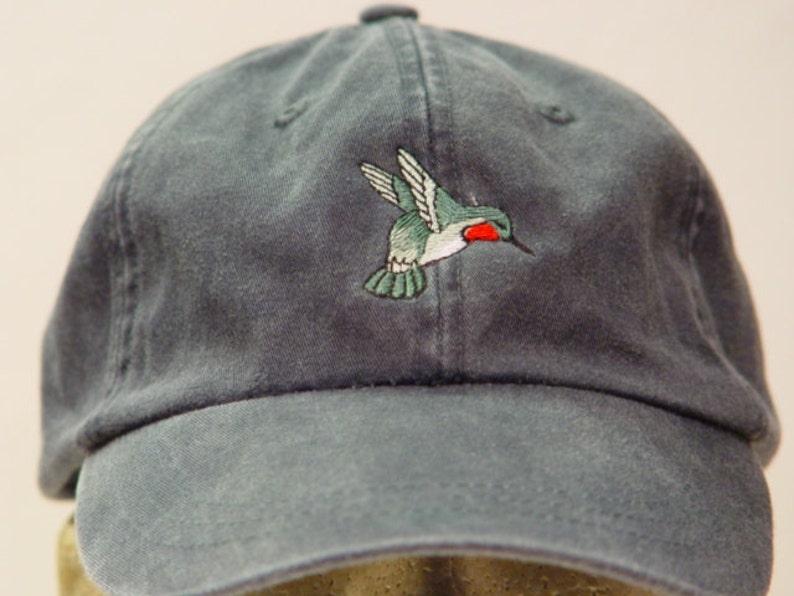 29e9082f9a1 HUMMINGBIRD Hat One Embroidered Men Women Wildlife Bird Cap